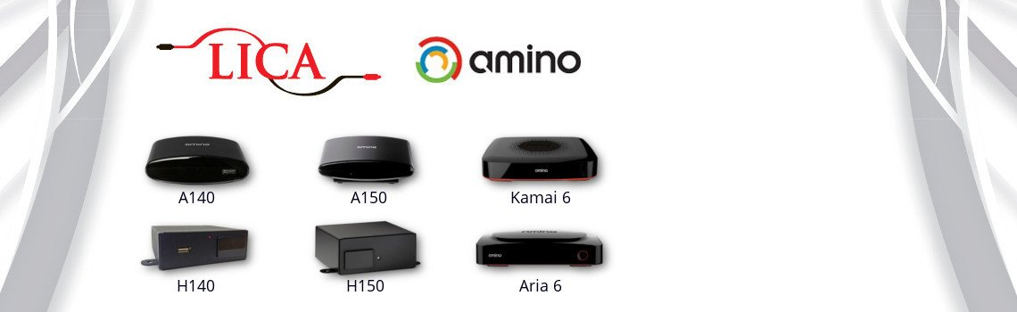 Amino IPTV set top boxes